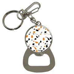 Orange, White And Black Pattern Bottle Opener Key Chains by Valentinaart