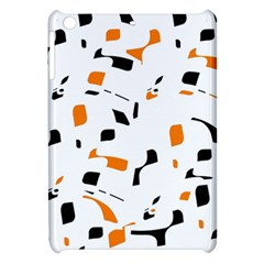 Orange, White And Black Pattern Apple Ipad Mini Hardshell Case by Valentinaart