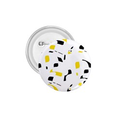 Yellow, Black And White Pattern 1 75  Buttons by Valentinaart