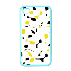 Yellow, Black And White Pattern Apple Iphone 4 Case (color) by Valentinaart