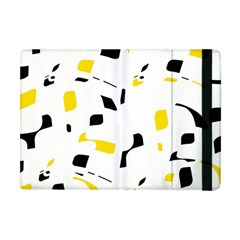 Yellow, Black And White Pattern Apple Ipad Mini Flip Case by Valentinaart