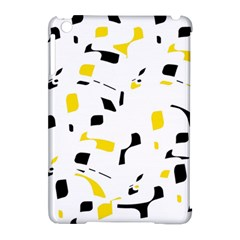 Yellow, Black And White Pattern Apple Ipad Mini Hardshell Case (compatible With Smart Cover) by Valentinaart