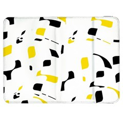 Yellow, Black And White Pattern Samsung Galaxy Tab 7  P1000 Flip Case