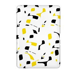 Yellow, Black And White Pattern Samsung Galaxy Tab 2 (10 1 ) P5100 Hardshell Case  by Valentinaart