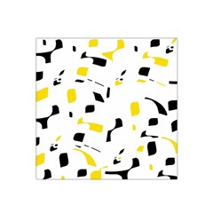 Yellow, Black And White Pattern Satin Bandana Scarf by Valentinaart