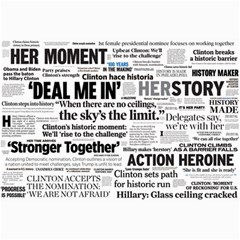 Hillary 2016 Historic Headlines Collage Prints by blueamerica