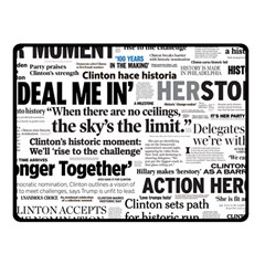 Hillary 2016 Historic Headlines Fleece Blanket (small) by blueamerica
