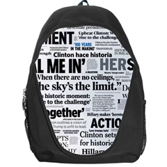Hillary 2016 Historic Headlines Backpack Bag by blueamerica