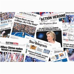 Hillary 2016 Historic Newspaper Collage Collage Prints by blueamerica
