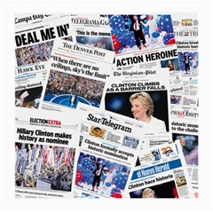 Hillary 2016 Historic Newspaper Collage Medium Glasses Cloth (2 Side) by blueamerica