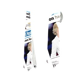 Hillary 2016 Historic Newspaper Collage Neckties (one Side)  by blueamerica