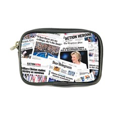 Hillary 2016 Historic Newspaper Collage Coin Purse by blueamerica