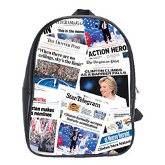 Hillary 2016 Historic Newspaper Collage School Bags (xl)  by blueamerica