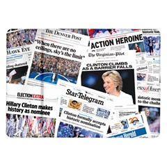 Hillary 2016 Historic Newspaper Collage Samsung Galaxy Tab 10 1  P7500 Flip Case by blueamerica