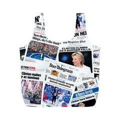 Hillary 2016 Historic Newspaper Collage Full Print Recycle Bags (m)  by blueamerica