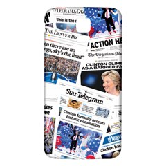 Hillary 2016 Historic Newspaper Collage Samsung Galaxy S5 Back Case (white) by blueamerica
