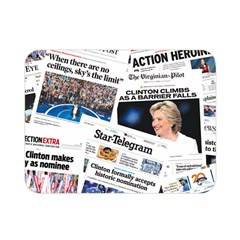 Hillary 2016 Historic Newspaper Collage Double Sided Flano Blanket (mini)  by blueamerica