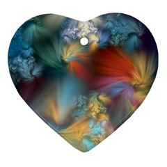 More Evidence Of Angels Ornament (heart)  by WolfepawFractals