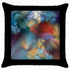 More Evidence Of Angels Throw Pillow Case (black) by WolfepawFractals