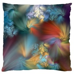More Evidence Of Angels Large Flano Cushion Case (one Side) by WolfepawFractals