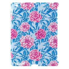 Blue & Pink Floral Apple Ipad 3/4 Hardshell Case (compatible With Smart Cover) by TanyaDraws