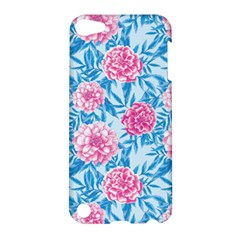 Blue & Pink Floral Apple Ipod Touch 5 Hardshell Case by TanyaDraws