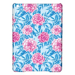 Blue & Pink Floral Ipad Air Hardshell Cases by TanyaDraws