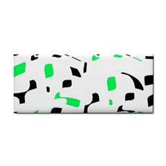 Green, Black And White Pattern Hand Towel by Valentinaart