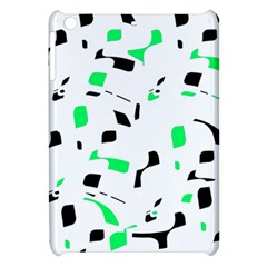 Green, Black And White Pattern Apple Ipad Mini Hardshell Case by Valentinaart
