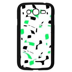 Green, Black And White Pattern Samsung Galaxy Grand Duos I9082 Case (black) by Valentinaart