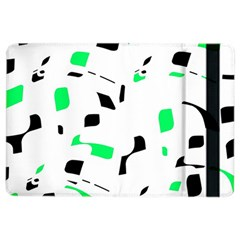 Green, Black And White Pattern Ipad Air 2 Flip by Valentinaart