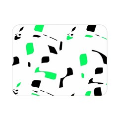 Green, Black And White Pattern Double Sided Flano Blanket (mini)  by Valentinaart