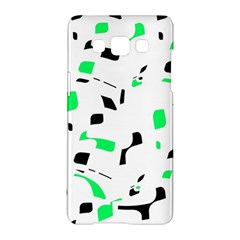 Green, Black And White Pattern Samsung Galaxy A5 Hardshell Case  by Valentinaart