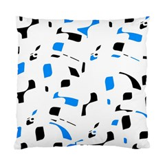 Blue, Black And White Pattern Standard Cushion Case (one Side) by Valentinaart