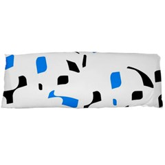 Blue, Black And White Pattern Body Pillow Case (dakimakura) by Valentinaart
