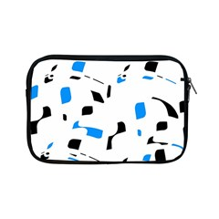 Blue, Black And White Pattern Apple Ipad Mini Zipper Cases by Valentinaart