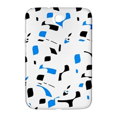 Blue, Black And White Pattern Samsung Galaxy Note 8 0 N5100 Hardshell Case  by Valentinaart