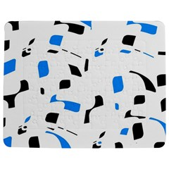 Blue, Black And White Pattern Jigsaw Puzzle Photo Stand (rectangular) by Valentinaart