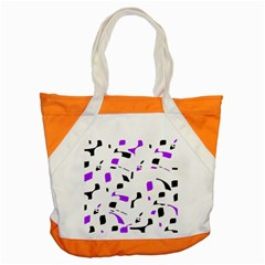 Purple, Black And White Pattern Accent Tote Bag by Valentinaart