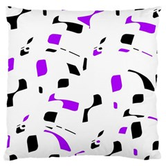 Purple, Black And White Pattern Large Cushion Case (one Side) by Valentinaart