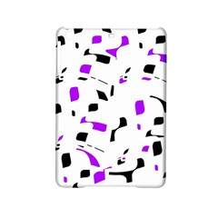 Purple, Black And White Pattern Ipad Mini 2 Hardshell Cases by Valentinaart