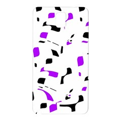 Purple, Black And White Pattern Samsung Galaxy Note 3 N9005 Hardshell Back Case by Valentinaart