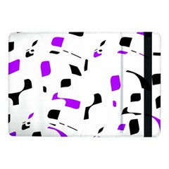 Purple, Black And White Pattern Samsung Galaxy Tab Pro 10 1  Flip Case by Valentinaart