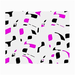 Magenta, Black And White Pattern Small Glasses Cloth by Valentinaart