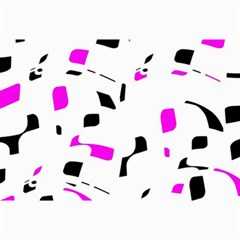 Magenta, Black And White Pattern Collage Prints by Valentinaart
