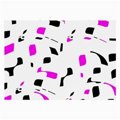Magenta, Black And White Pattern Large Glasses Cloth by Valentinaart