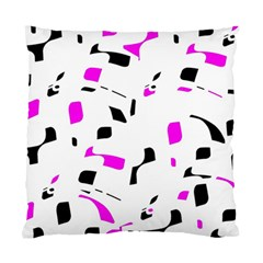 Magenta, Black And White Pattern Standard Cushion Case (two Sides) by Valentinaart