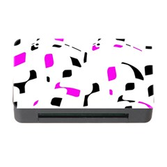 Magenta, Black And White Pattern Memory Card Reader With Cf by Valentinaart