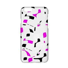 Magenta, Black And White Pattern Apple Iphone 6/6s Hardshell Case by Valentinaart