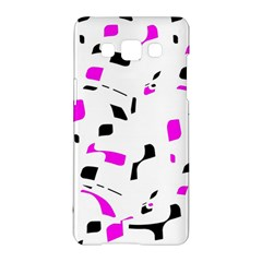 Magenta, Black And White Pattern Samsung Galaxy A5 Hardshell Case  by Valentinaart